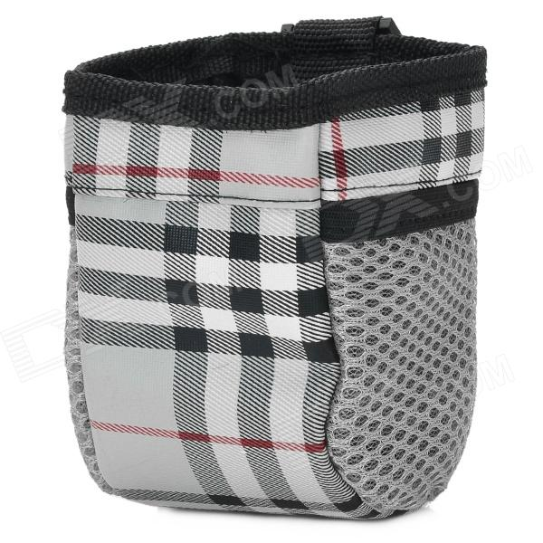 Simple Stripe Pattern Car Interior Storage Box - Black + White + Grey