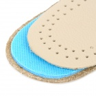 JD-012 Shock Reducing Capeskin + Latex Shoe Insole Pads for Men - Beige + Blue (Pair / Size 43)