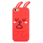 GGT Cute Rabbit Style Protective Silicone Back Case for Iphone 5 - Red