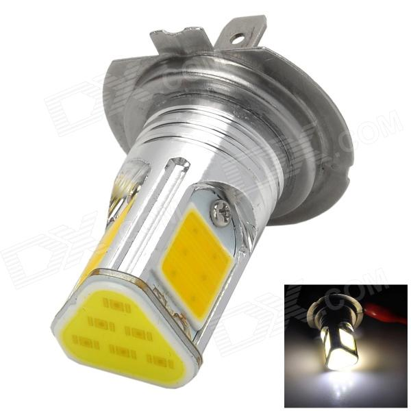 LX5010 H7 15W 600lm 6500K 4-COB-LED White Light Car Steering Light - Silver (12~15V)