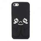 Protective Cartoon Silicone Back Case for Iphone 5 - Black + White