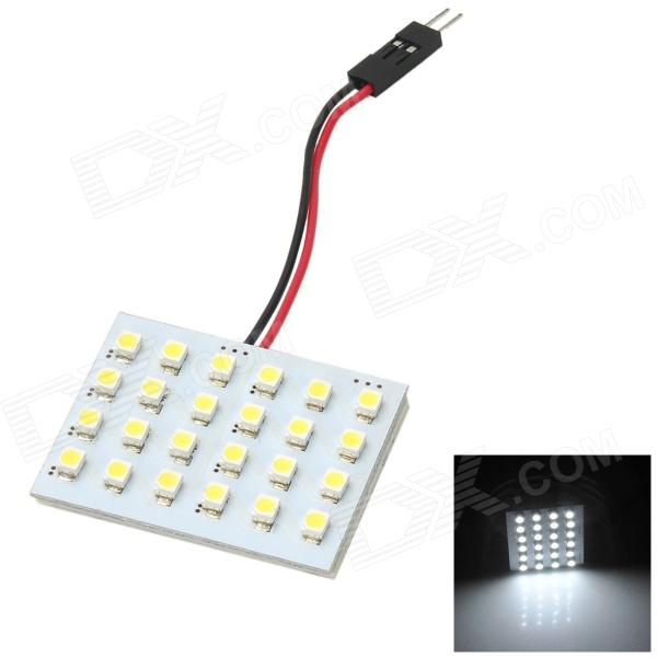LY411 2.4W 80lm 4000k 1210 SMD LED White Light quarto / Trunk Lamp - Branco + Amarelo