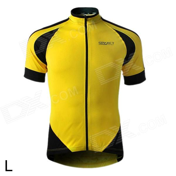 Spakct S13C12 Bicycle Cycling Short Sleeves Jersey for Men - Yellow ... 53349b6bf