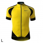 Spakct S13C12 Bicycle Cycling Short Sleeves Jersey for Men - Yellow + Black (Size L)