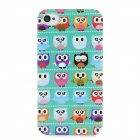 Cute Cartoon Owls Pattern Plastic Back Case for  Iphone 4/4S - Multicolor