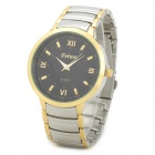 Feiwo 8090G Alloys Plating Analog Quartz Wrist Watch for Men - Black + Golden + Silver
