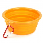 Maxipa Mxp-19004-2 Collapsible Silicone Water / Food Bowl for Pets - Orange