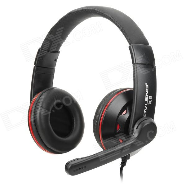 все цены на OVLENG X5 Headphones Headset w/ Microphone for Computer - Black + Red (3.5mm Plug / 1.85m)
