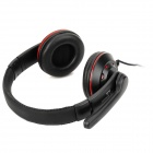 OVLENG X5 Headphones Headset w/ Microphone for Computer - Black + Red (3.5mm Plug / 1.85m)