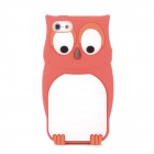 Protective Owl Pattern Silicone Back Case for Iphone 5 - Red + White