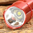 CJ-701R Portable 10lm LED White Flashlight w/ Strap - Red (1 x AA)
