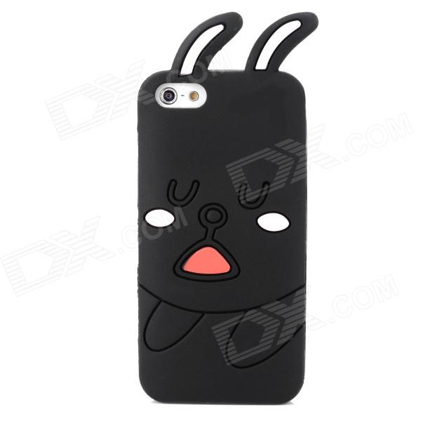 Protective Rabbit Pattern Silicone Case for Iphone 5 - Black + Pink protective silicone case for nds black