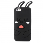 Protective Rabbit Pattern Silicone Case for Iphone 5 - Black + Pink