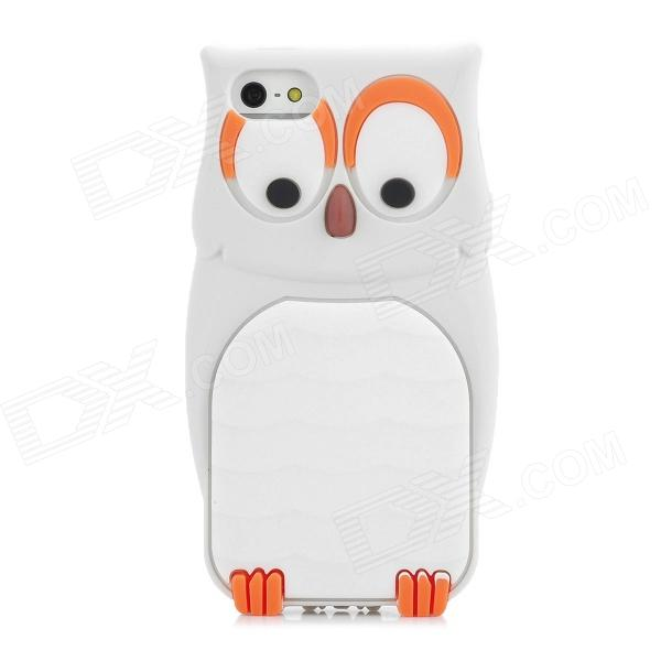 MTY Cute Owl Style Protective Silicone Back Case for Iphone 5 - Grey + White - DXSilicone Cases<br>Brand N/A Model MTY Quantity 1 Piece Color Grey + white Material Silicone Compatible Models Iphone 5 Other Features Protects your device from scratches dust and shock Packing List 1 x Protective case<br>