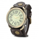JINGYI Retro Style Damen Quarz Analog Armbanduhr w / PU Band - Brown + Bronze (1 x LR626)