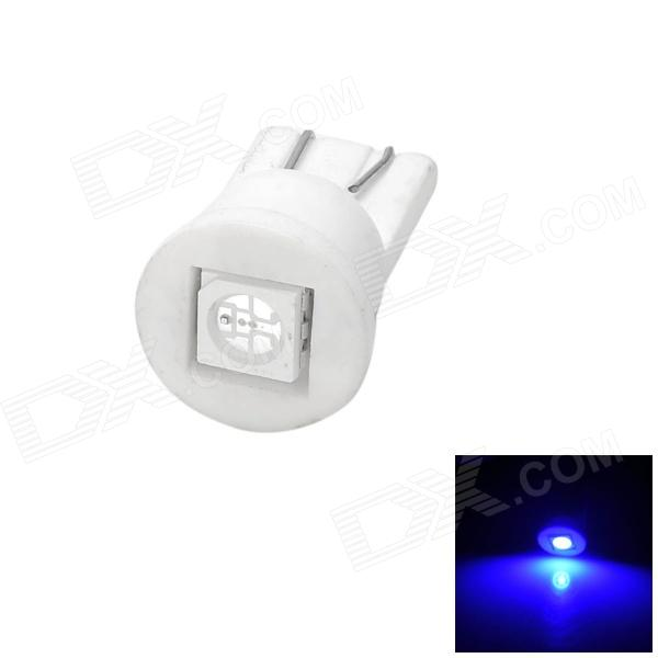 T10 0.5W 4lm SMD 5050 LED Blue Light Car Bulb - White cob 48 smd chip super white car dome light reading lamp 12v led dome bulb led car parking auto interior panel light