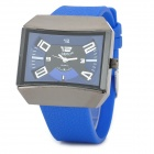 SBAO S290 Rubber Band Analog Quartz Wrist Watch for Men - Blue + Black