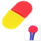 KTV Microphone Sponge Cover - Red + Yellow (Pair)