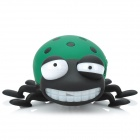 TY-021 Cute Convenient Beetle Shaped TF Card Speaker - Black + White + Green (8 GB)