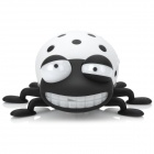 TY-021 Cute Convenient Beetle Shaped TF Card Speaker - Black + White (8 GB)