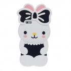 Cute Rabbit Style Protective Silicone Back Case for Iphone 5 - White + Black + Pink + Yellow