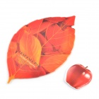 SYVIO Creative Leaf shaped Mouse Pad + Fruit Cup Pad (Apple) - Red