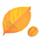 SYVIO Creative Natural Style Leaf Shaped Mouse Pad + Fruit Shaped Cup Pad (Carambola) - Yellow