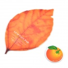 SYVIO Kreative Blatt geformte Maus Pad + Fruit Shaped Cup Pad (Orange) - Orange