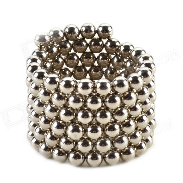 CHEERLINK ZZ-125 4.5mm Neodymium Iron DIY Educational Toys Set - Silver (125 PCS) cheerlink xb 01 3mm diy magnet balls neodymium iron educational toys set silver white 432 pcs