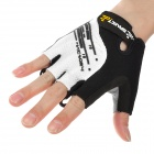 Spakct S13G01 Cycling Polyamide + Elastane Half-finger Gloves - Black + White (XL / Pair)