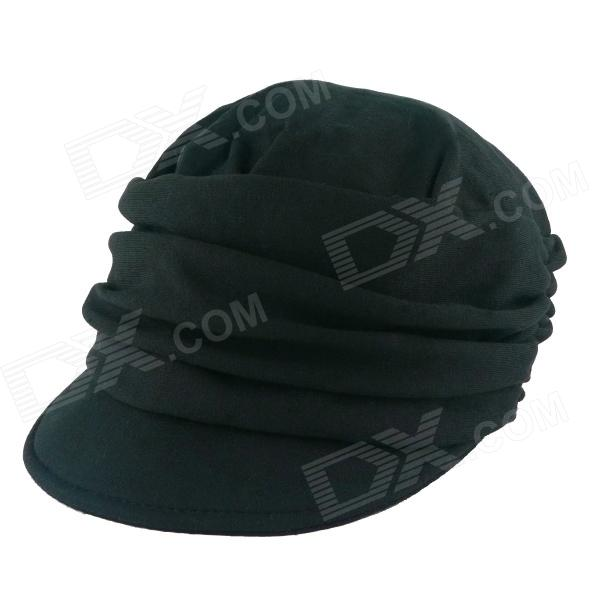 Stylish Casual Cap / Hat - Black trendy cotton fedora hat cap black