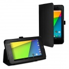 Protective PU Leather Case Cover Stand for Google Nexus 7 II - Black
