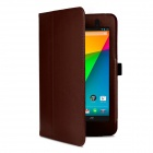 Protective PU Leather Case Cover Stand for Google Nexus 7 II - Brown