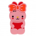 Cute Rabbit Style Protective Silicone Back Case for iPhone 5 - Pink + Red + Orange + Black + Yellow
