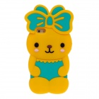 Cute Rabbit Style Protective Silicone Back Case for Iphone 5 - Yellow + Green + Black + Brown + Pink