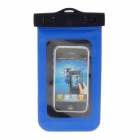Stylish Protective PVC Waterproof Bag for Iphone 4 / 4S / 5 - Black + Blue