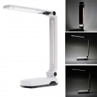 KANGMING KM-6656A 2.4W 60lm 6000K 30-SMD LED White Light 2-Mode Folding Table Light - Black + White