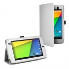 Protective PU Leather Case Cover Stand for Google Nexus 7 II - White