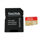 Sandisk MicroSDHC TF UHS-I Memory Card w/ SD Card Adapter - Red + Golden (32GB)