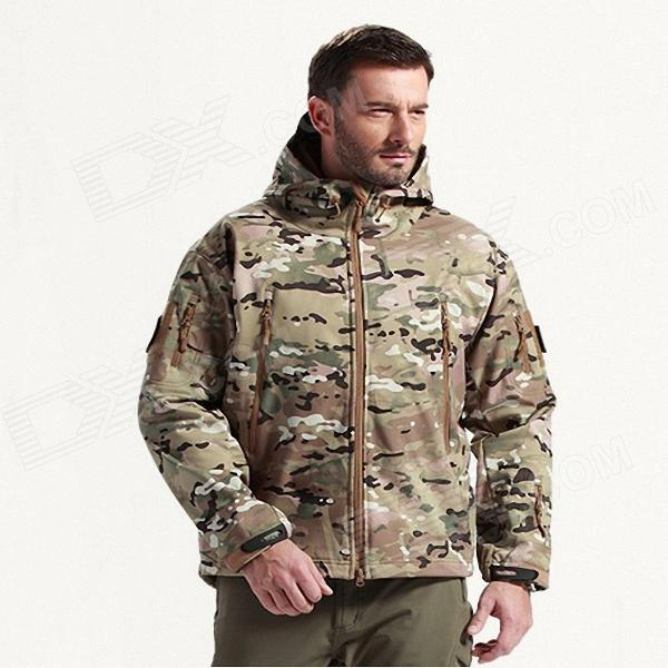 Men's Waterproof Windproof Polyester + Spandex Outdoor Jacket - CP Camouflage (Size-L)
