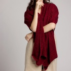 SGARLY Multifunctional Square Mesh Scarf Scarves - Wine Red