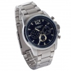 EYKI EOV8568AG Stainless Steel Band Quartz Analog Wrist Watch for Men - Black + Silver (1 x LR626)