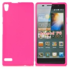 Protective TPU Back Case for Quidway Ascend P6 - Deep Pink