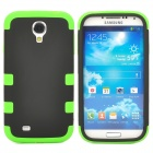 Protective Silicone + PC Back Case for Samsung Galaxy S4 i9500 - Black + Green