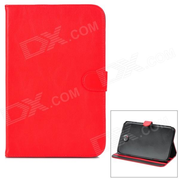 Protective PU Leather Case w/ Stylus for Samsung Galaxy Note 8.0 N5100 - Red protective leather wallet case w abs holder stylus for samsung galaxy note i9220 black