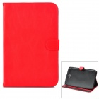 Protective PU Leather Case w/ Stylus for Samsung Galaxy Note 8.0 N5100 - Red