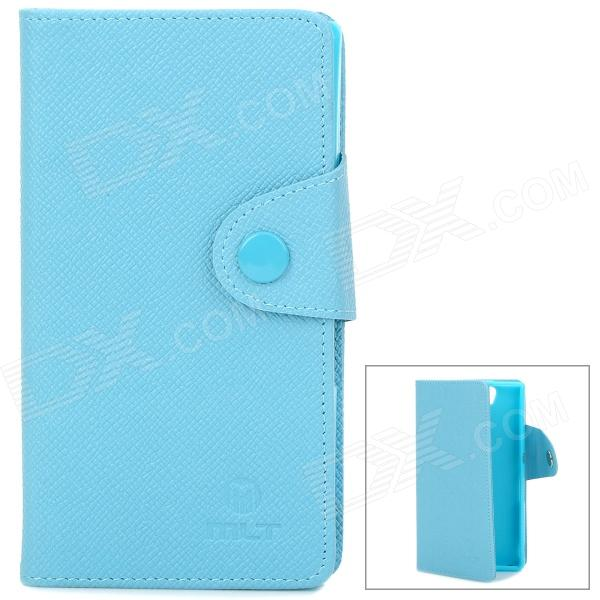 Stylish Protective PU Leather Case for Sony Xperia Z LT36h - Blue смартфон fly fs512 nimbus 10 4g lte 8gb black