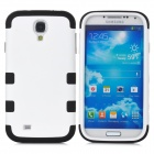 Protective Compact Silicone + PC Case for Samsung Galaxy S4 / i9500 - White + Black