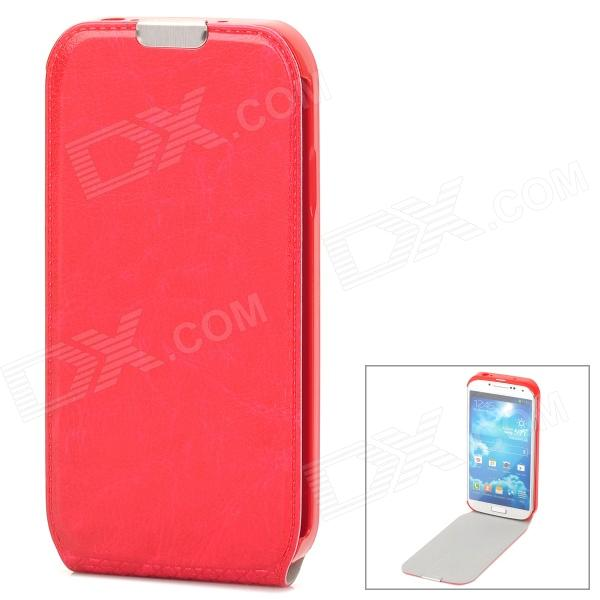 Protective Flip-Open PU Leather Case for Samsung Galaxy S4 i9500 - Red стоимость
