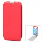 Protective Flip-Open PU Leather Case for Samsung Galaxy S4 i9500 - Red